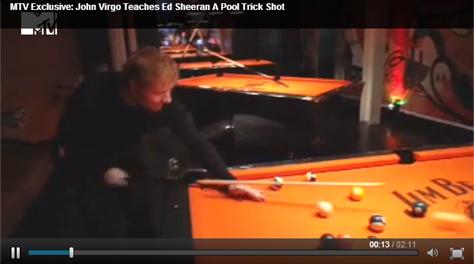 John Virgo and Ed Sheeran