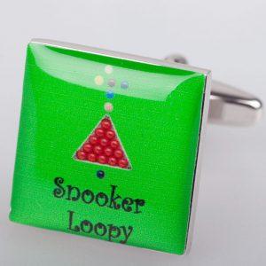 Buy John Virgo Snooker Loopy Cufflinks